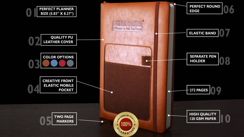 Achiever Planner With Smart Pocket Organizer