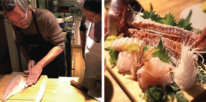 Chef Katsu at work